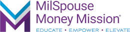 MilSpouse Money Mission Logo in Header position