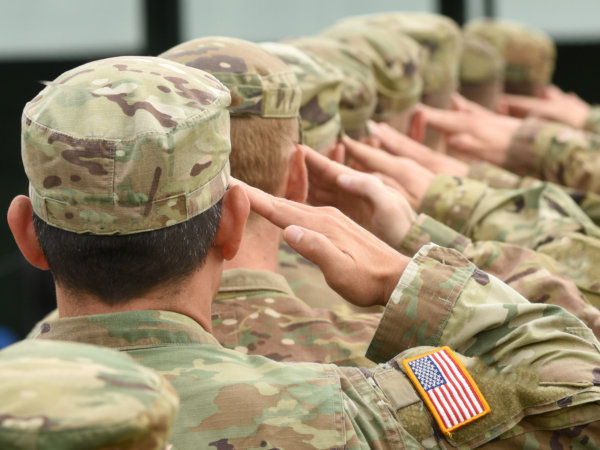 Continuation Pay - Soldiers saluting