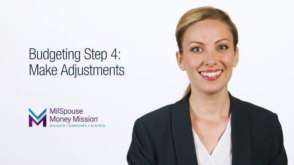 Create A Budget -Step 4